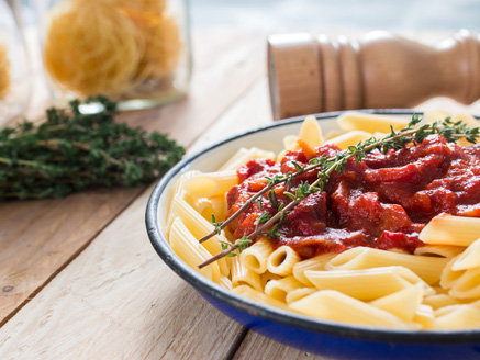Pasta with Roasted Peppers