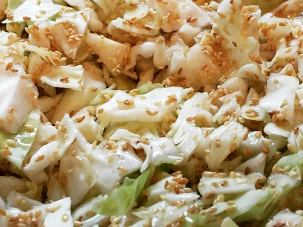 Cabbage Salad with Sesame Seeds