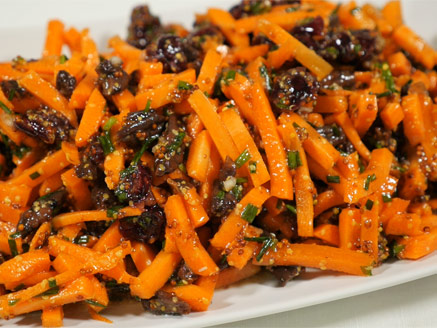 Carrot Salad with Chinese Pecans and Cranberries