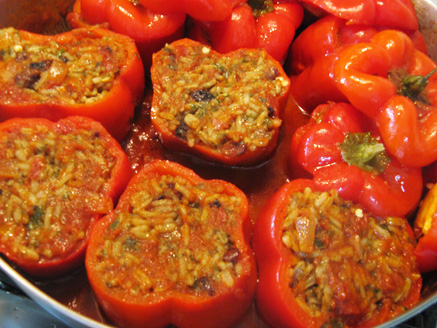 Stuffed Peppers with Rice and Herbs