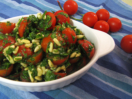 Cherry Tomato Salad and Pine Nuts