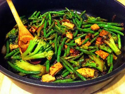 Asian-Style Tofu and Greens