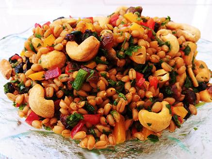 Vegan Spelt Salad with Vegetables