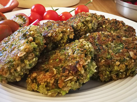 Zucchini and Green Buckwheat Patties