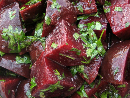 Cooked Red Beet Salad