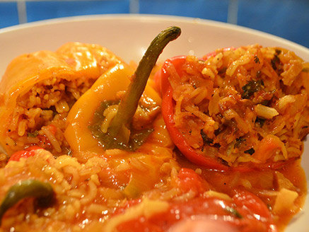 Stuffed Peppers with Seitan