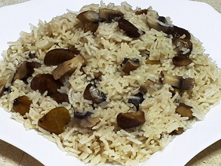 Rice with Chestnuts and Mushrooms