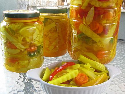Pickled Vegetables in Vinegar and Salt