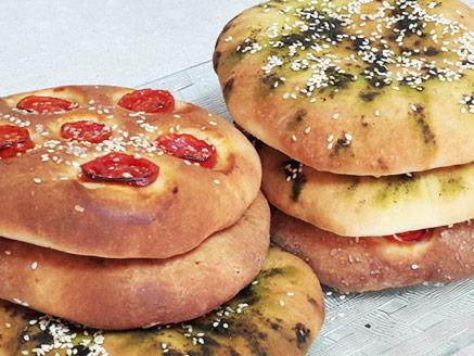 Pita Bread with Za'atar and Cherry Tomatoes