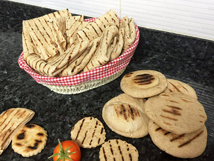 Healthy Taboon Bread with Strips
