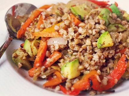 Vegan Buckwheat Stew with Vegetables