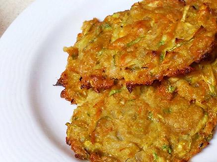 Baked Vegan Zucchini Latkes