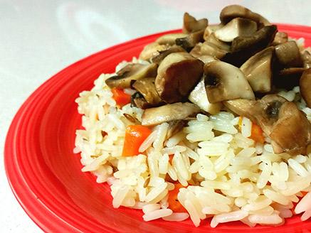 Basmati Rice with Cumin Seeds, Carrot and Mushrooms