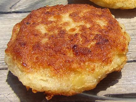 Vegan Cauliflower Latkes with Orange Lentil
