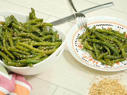 Stir-Fried Green Beans with Soy and Sesame