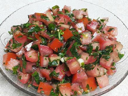 Easy Spicy Tomato salad