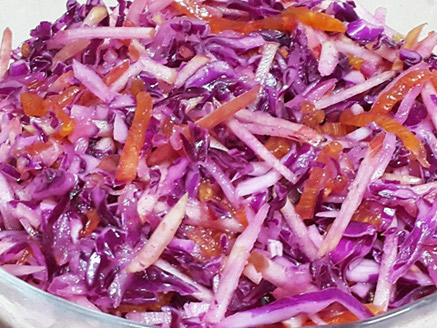 Vegan Red Cabbage and Apple Salad