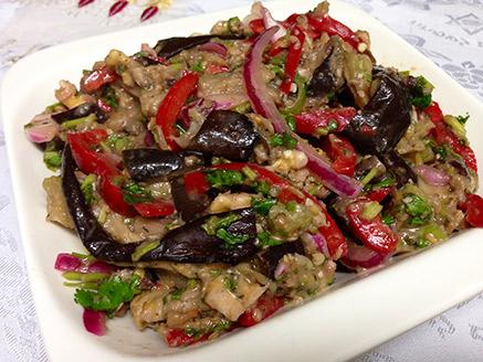 Georgian Eggplant Salad