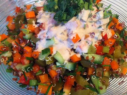 Vegan Red Quinoa Salad