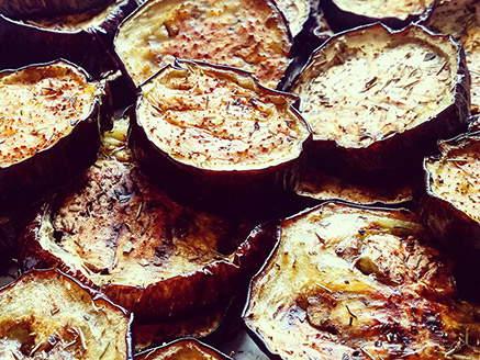 Eggplant Slices in the Oven