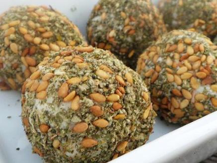 Vegan Cheese Balls with Za'atar