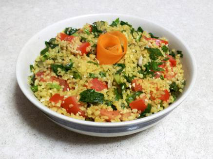 Vegan Tabbouleh Bulgur Salad