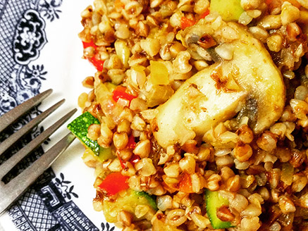 Buckwheat with Vegetables Seasoned with Hawaij