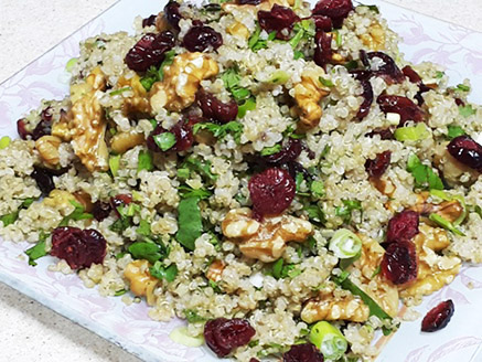 Quinoa with Cranberries and Nuts