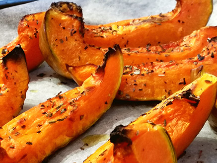 Baked Pumpkin in The Oven