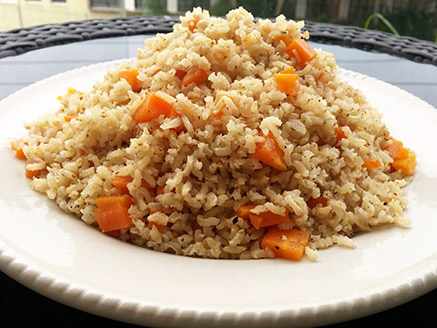 Brown Rice with Carrot