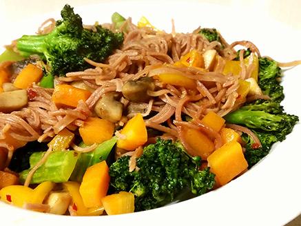 Stir-Fried Vegetables with Adzuki Bean Noodles