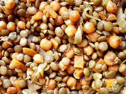 Lentil Stew with Onion, Carrot and Chickpea