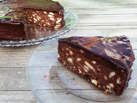 Vegan Chocolate Biscuit Cake