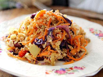 Quinoa with Stir-Fried Vegetables