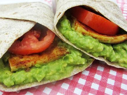 Vegan Tortilla with Avocado and Tofu