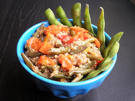 Asian-Style Quinoa with Green Bean