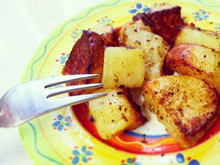 Baked Seasoned Potato Cubes