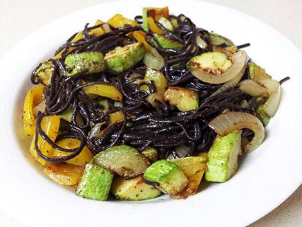 Black Rice Noodles with Vegetables