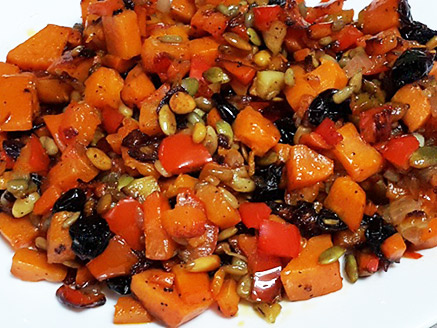 Caramelized Sweet Potato with Dried Fruit