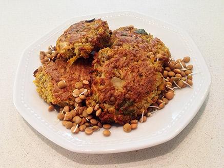 Vegan Rice and Lentil Patties