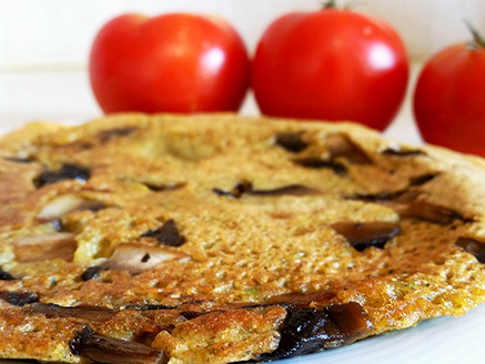 Gluten-Free Vegan Omelette from Legumes and Grains Flours