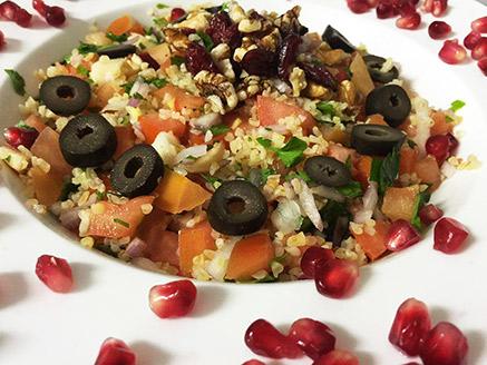 Bulgur Salad with Pomegranates