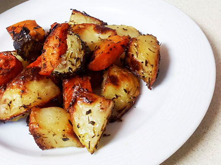 Baked Seasoned Vegetables