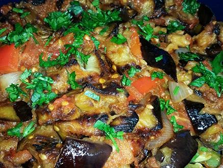Amazing Baked Eggplant Salad