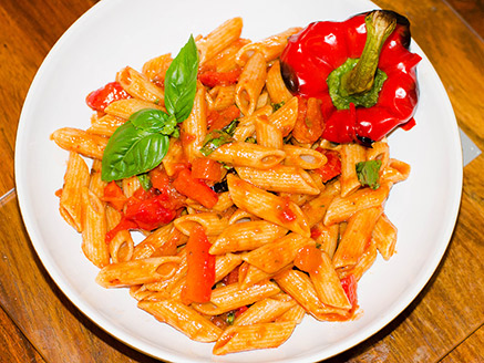 Vegan Pasta with Peppers