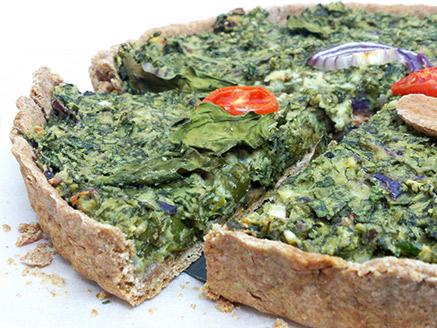 Vegan Spinach Quiche