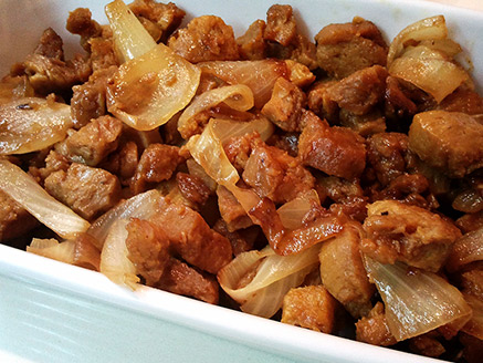 Slices of Soy and Onion in Soy Sauce and Teriyaki