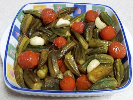 Vegan Okra Salad