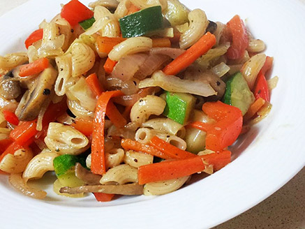 Brown Rice Noodles with Vegetables