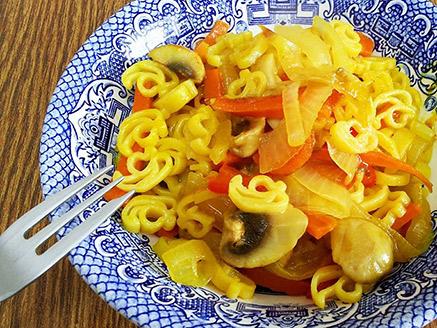 Corn Flour Noodles with Vegetables